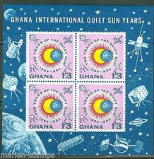 GHANA  IMPERFORATED SOUVENIR SHEET QUIET SUN YEAR SCOTT#166a  MINT NEVER HINGED