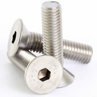 M4 M5 M6 M8 A2 STAINLESS COUNTERSUNK SOCKET SCREW ALLEN KEY BOLTS SCREWS DIN7991