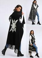 Ladies Womens Oversized Long Open Cardigan Duster Coat Waterfall Jacket Gillet