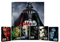 STAR WARS STEELBOOK COLLECTION + BOX ITALIANO (15 BLU-RAY) EDIZIONI LIMITATE