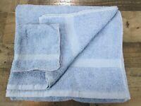 Admiration Bath Towel Washcloth Cornflower Blue 100% Cotton Vintage 90s New NOS