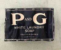 Single Bar 1950s Vintage Proctor & Gamble White Laundry Soap Bar P&G