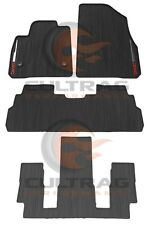 2017 2018 GMC Acadia Front 2nd & 3rd Row 6 Pass All Weather Floor Mats Black