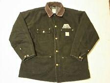 Carhartt BLACK DUCK CHORE BARN Coat Size 44 Reg Large BLANKET LINED C01 BLK