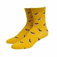 Hypnotic Socks Beagles Yellow Men's Dog Animal Novelty Socks
