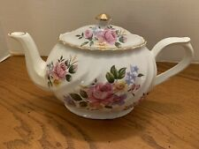 New listing Arthur Wood Son Staffordshire England 6494 Rose Flowers Teapot Gold Trim Ex Cond