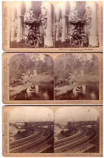 3 Stereoview Images.Finest Pulpit, A Sad Predicament, Elivated Railroad.