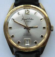 1970s Para Caballero GP Jaquet Cobur por Trafalgar Automático Fecha Reloj De Lupa Reparado
