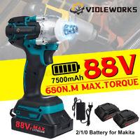 88VF 680Nm Avvitatore a Impulsi a batteria Elettrico Trapano Con 1/2Pcs Batteria