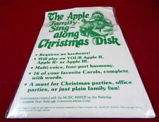Apple 2: the Apple Family singalong Christmas Disk - 1982