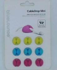 #535  NEW Bluelounge CableDrop Cable clips Assorted- Multi Purpose  Mini Clips-9