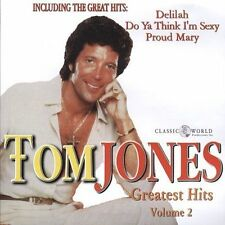 Greatest Hits, Vol. 2 by Tom Jones (CD, 2002, Classic World Productions, Inc.)
