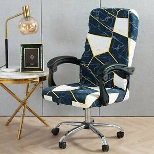 Swivel Computer Chair Cover Stretch Office Chair Protector Seat Cover Decor Home
