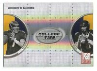Aaron Rodgers Rookie Card 2005 Elite College Ties #CT1 Green Bay Packers RC