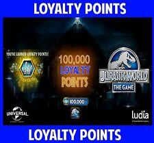 Jurassic WORLD The Game Builder 100,000 LOYALTY POINTS Android iOS park