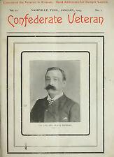 CONFEDERATE VETERANS MAGAZINE 31 vols AMERICAN CIVIL WAR 1893-1923 history CSA