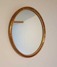 Miroir ovale ancien en bois avec glace au Mercure ?