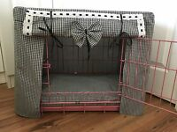 MADE TO MEASURE DOG CRATE / CAGE COVER / GINGHAM / 15 COLOURS