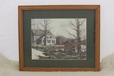 Winter Farm House Print 427
