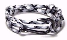 Nautical Fish Hook Bracelet Hand Made Men Women Fashion Jewelry Adjustable USA