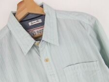 lu837 Fat Face Camisa top corte clásico verde tiras original premium talla M