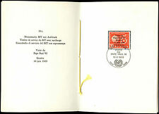 Suiza 1969 el papa Pablo VI, IED PTT carpeta #C36835