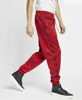 Men's Nike Air Jordan Jumpman Tricot Graphic Pants AR4462-687 Red Black Size M