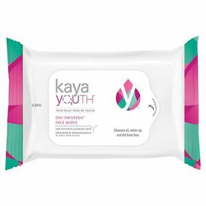 Kaya Youth O2 Oxy-Infusion Face Wipes 30 Pieces For Skin Care