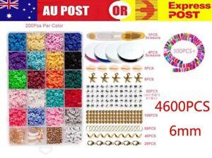4600+ Flat Polymer Clay Beads Set DIY Bracelets Bangles Jewelry Making Earring