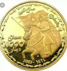 Kurdistan 2003/AH 1424 1000 Dinar Gold Coin Proof. Only 100 Coins Ever Minted !