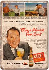 "McLaglen Blatz Vintage Beer Man Cave Ad 10"" x 7"" Reproduction Metal Sign E241"