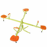 Quad Kids Heavy-Duty Seesaw 360 Degree Spinning Children Birthday Gift EZ Set