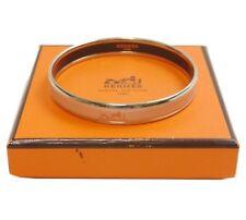 Authentic HERMES Bracelet Bangle Emaueu Silver Enamel #3938
