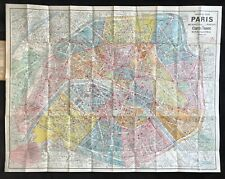 "Paris c.1926 ""Nouveau Plan de Paris"" Map by Cartes Taride"