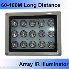 100M 850nm infrared 15 pcs high power IR LED illuminator for CCTV LPR Camera