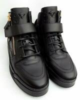 Versace Medusa Black Leather Trainers Sneakers Boots UK10 44 US11 New