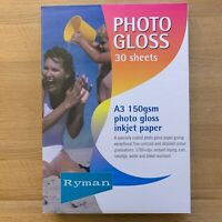 90 Sheets Ryman Everyday Gloss Inkjet Photo Paper A3 150gsm