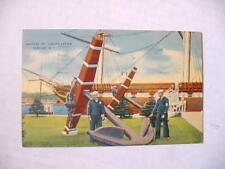 ~ US 1943 WWII Postcard ~ Anchors of Constellation / Newport, RI / FREE Franking