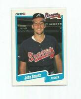 JOHN SMOLTZ (Atlanta Braves) 1990 FLEER BASEBALL CARD #595