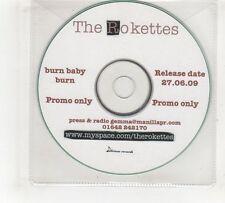 (GV460) The Rokettes, Burn Baby Burn - 2009 DJ CD