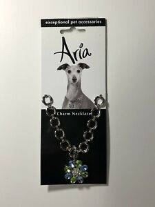 """ARIA Charm Necklace Jeweled Bouquet 8""""-12"""""""