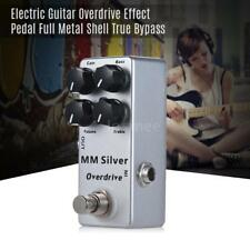 MOSKY MM Mini Overdrive Electric Guitar Effect Pedal Full Metal Shell Silver ET4