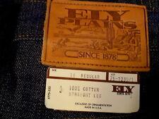 """NWT Vtg 70s ELY PLAINS JEANS,Talon 42, Teen Sz 16, STRAIGHT, USA, 28""""W x 31""""L"""