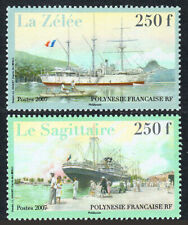 French Polynesia 949-950, MNH. Ships, 2007