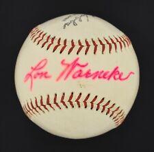Only Known Lon Warneke Single Signed ONL Baseball D. 1976 Cubs Cardinals JSA