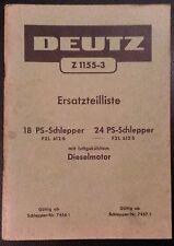Deutz Schlepper F2L 612/6 und F2L 612/5 Ersatzteilliste