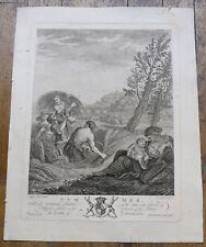 Eau forte, L'Eté, par Giovanni Vitalba, d'après Filippo Lauri, 1766