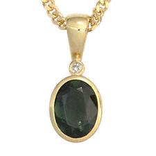Unbehandelte ovale Echtschmuck-Halsketten & -Anhänger mit Diamant