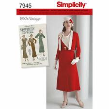 7945 PATRON SIMPLICITY REEDITION ANNEE 1930 ROBE ET BOLERO   DU 42 AU 50