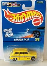 HOT WHEELS LONDON TAXI #619 1997 MOC DIECAST BRITISH CAB SERVICE